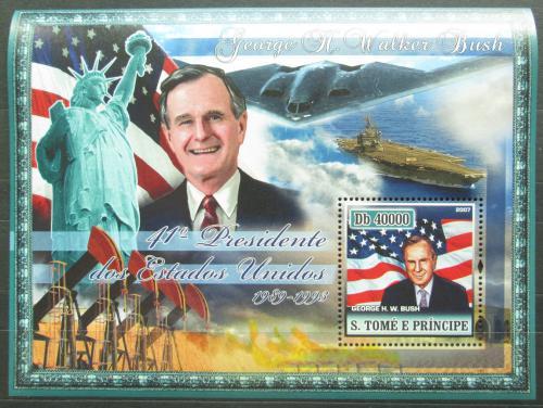 Poštovní známka Svatý Tomáš 2007 Prezident George Bush Mi# Block 587 Kat 11€
