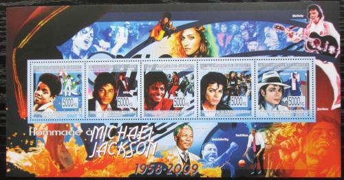 Poštovní známky Guinea 2009 Michael Jackson Mi# 6617-21 Kat 13€