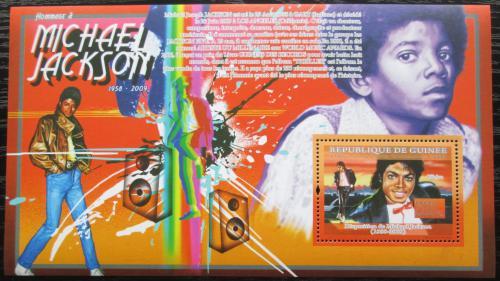 Poštovní známka Guinea 2009 Michael Jackson Mi# Block 1694 Kat 10€