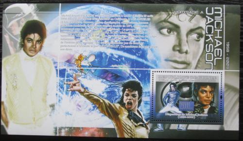Poštovní známka Guinea 2009 Michael Jackson Mi# Block 1695 Kat 10€