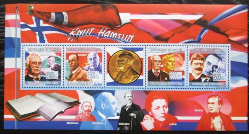 Poštovní známky Guinea 2009 Knut Hamsun, norský spisovatel Mi# 6659-62 Kat 13€