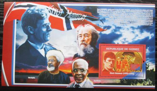 Poštovní známka Guinea 2009 Knut Hamsun, spisovatel Mi# Block 1702 Kat 11€