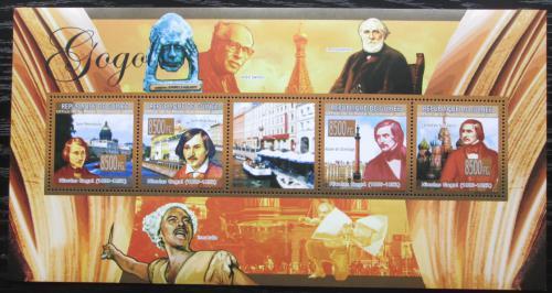 Poštovní známky Guinea 2009 Nikolaj Gogol, spisovatel Mi# 6654-57 Kat 13€