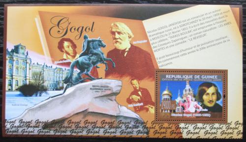 Poštovní známka Guinea 2009 Nikolaj Gogol, spisovatel Mi# Block 1701 Kat 11€