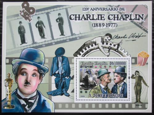 Poštovní známka Svatý Tomáš 2009 Charlie Chaplin Mi# Block 689 Kat 10€