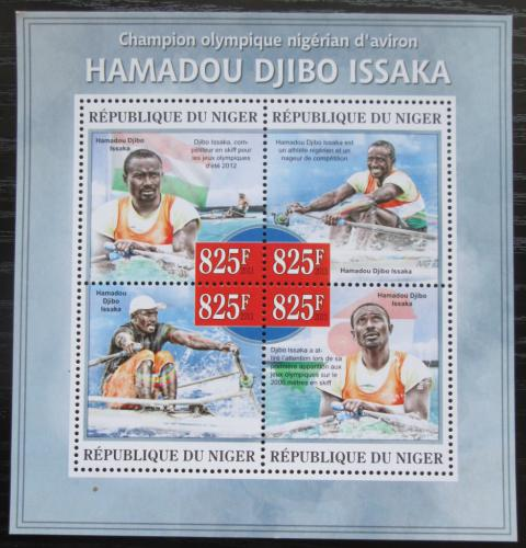 Poštovní známky Niger 2013 Hamadou Djibo Issaka, veslování Mi# 2267-70 Kat 13€