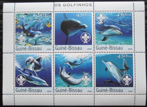 Poštovní známky Guinea-Bissau 2003 Delfíni Mi# 2584-89 Kat 11€