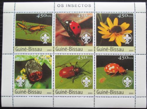 Poštovní známky Guinea-Bissau 2003 Hmyz Mi# 2630-35 Kat 11€