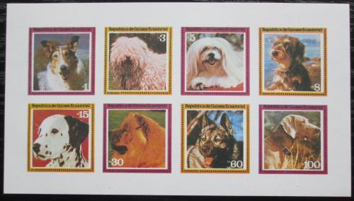 Poštovní známky Rovníková Guinea 1978 Psi neperf. Mi# 1427-34 B