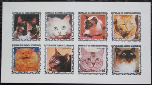 Poštovní známky Rovníková Guinea 1978 Koèky neperf. Mi# 1403-10 B