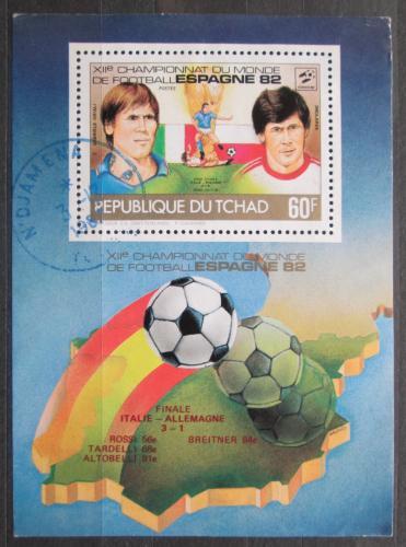 Poštovní známka Èad 1982 MS ve fotbale Mi# 938 A Block