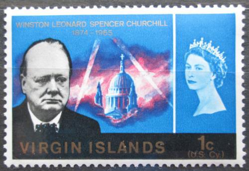 Poštovní známka Britské panenské ostrovy 1966 Winston Churchill Mi# 159