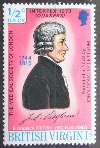 Poštovní známka Britské panenské ostrovy 1973 John Coakley Lettsom Mi# 245