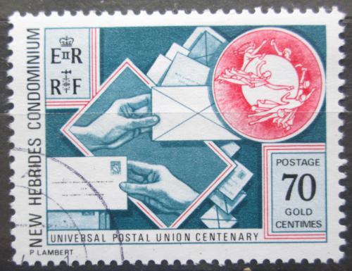 Poštovní známka Nové Hebridy, Vanuatu 1974 UPU, 100. výroèí Mi# 399