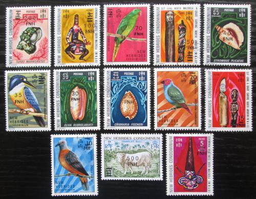 Poštovní známky Nové Hebridy, Vanuatu 1977 Pøetisky TOP SET Mi# 447-59 Kat 85€