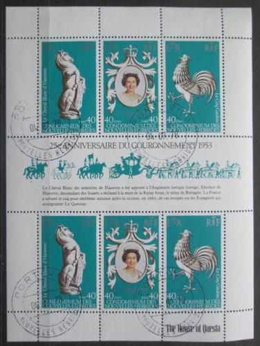 Poštovní známky Nové Hebridy, Vanuatu 1978 Královská korunovace Mi# 513-15 Kat 8€