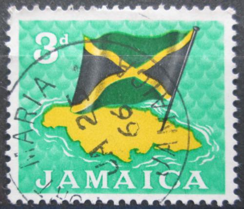 Poštovní známka Jamajka 1964 Státní vlajka Mi# 223