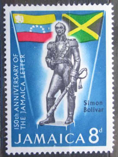 Poštovní známka Jamajka 1966 Památník Simóna Bolívara Mi# 260