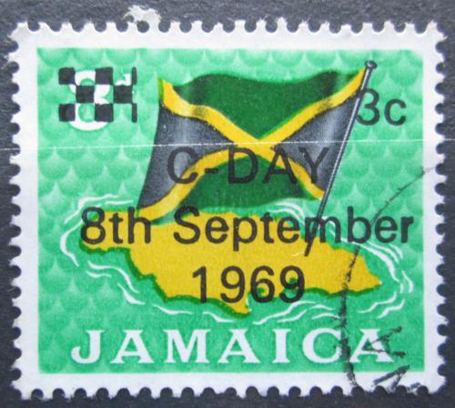 Poštovní známka Jamajka 1969 Státní vlajka pøetisk Mi# 283