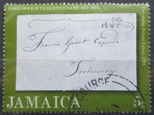 Poštovní známka Jamajka 1971 Poštovní služby, 300. výroèí Mi# 337