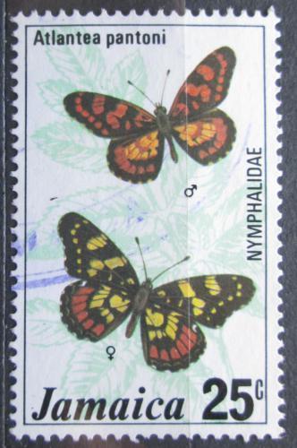 Poštovní známka Jamajka 1977 Motýl, Atlantea pantoni Mi# 425