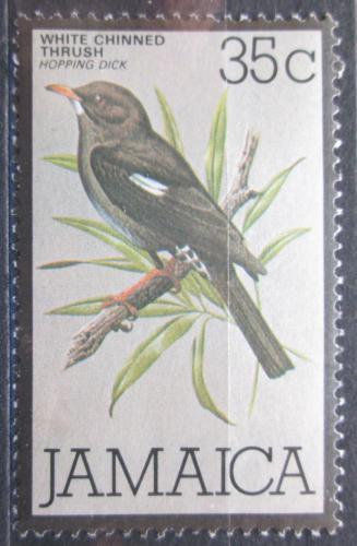 Poštovní známka Jamajka 1980 Drozd bìlobradý Mi# 479