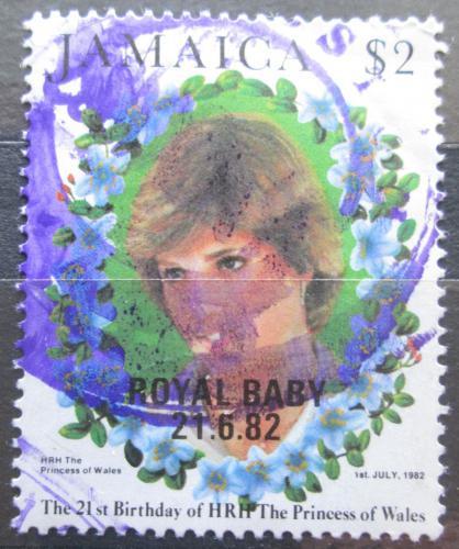Poštovní známka Jamajka 1982 Princezna Diana pøetisk Mi# 547