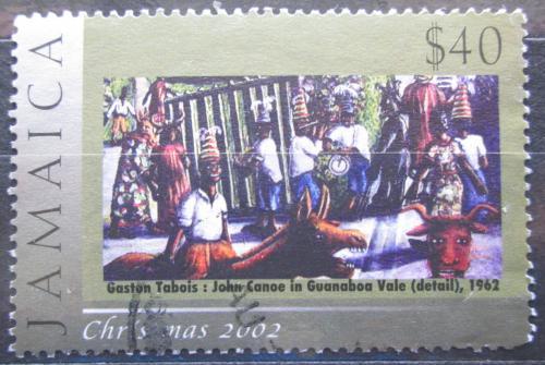 Poštovní známka Jamajka 2002 Vánoce, umìní Mi# 999
