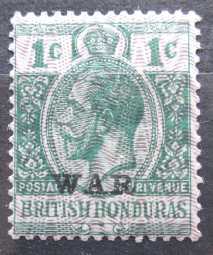 Poštovní známka Britský Honduras 1916 Král Jiøí V. pøetisk Mi# 79