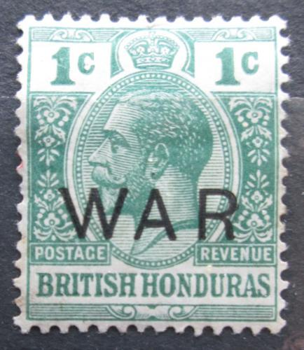 Poštovní známka Britský Honduras 1918 Král Jiøí V. pøetisk Mi# 82 a