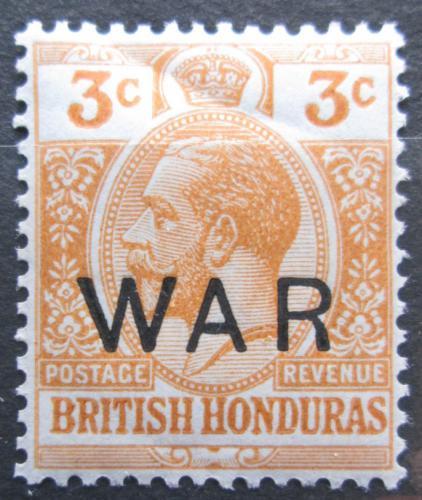 Poštovní známka Britský Honduras 1918 Král Jiøí V. pøetisk Mi# 83