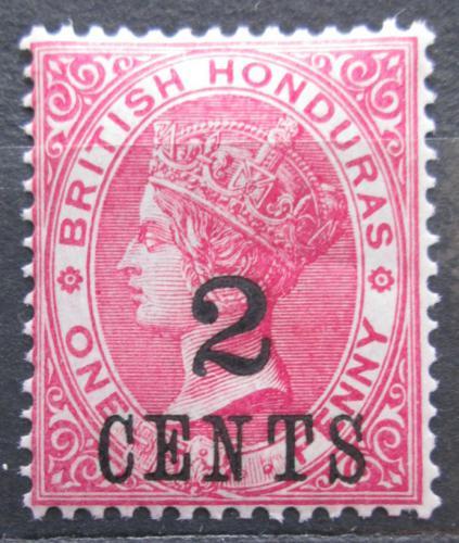 Poštovní známka Britský Honduras 1888 Královna Viktorie pøetisk Mi# 21