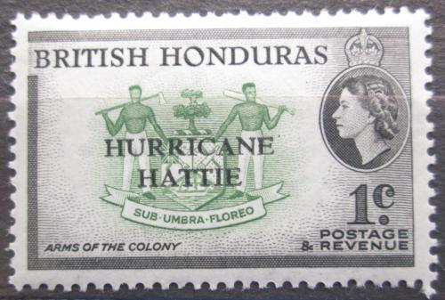 Poštovní známka Britský Honduras 1962 Státní znak pøetisk Mi# 160