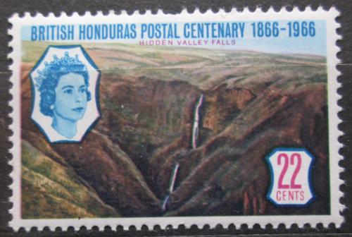 Poštovní známka Britský Honduras 1966 Vodopády Mi# 199