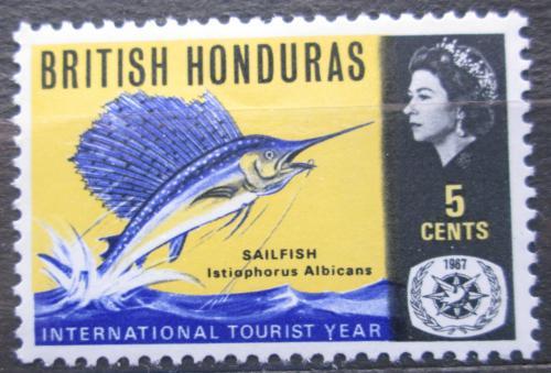 Poštovní známka Britský Honduras 1967 Marlín Mi# 201