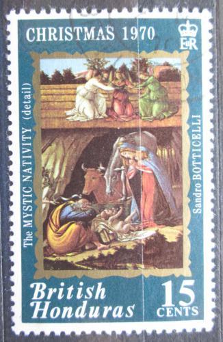 Poštovní známka Britský Honduras 1970 Vánoce, umìní Mi# 251