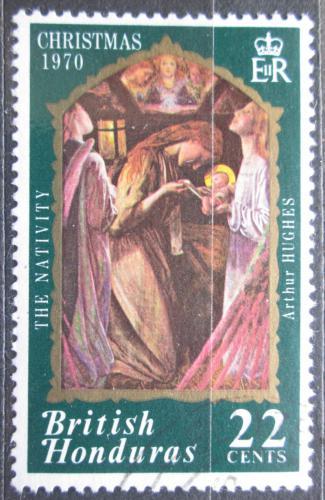 Poštovní známka Britský Honduras 1970 Vánoce, umìní Mi# 252