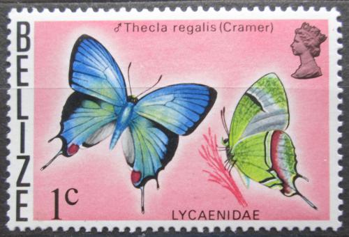 Poštovní známka Belize 1974 Motýl, Thecla regalis Mi# 331 X