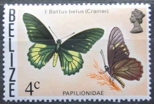 Poštovní známka Belize 1974 Motýl, Battus belus Mi# 334 X Kat 4.50€