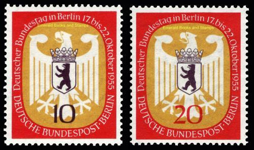 Poštovní známky Západní Berlín 1955 Mìstský znak Mi# 129-30 Kat 7€