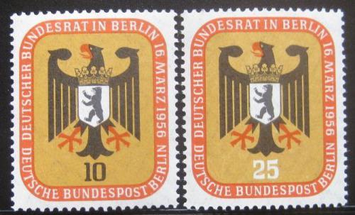 Poštovní známky Západní Berlín 1956 Mìstský znak Mi# 136-37 Kat 6.50€