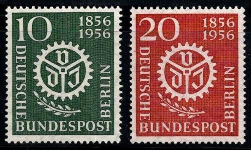 Poštovní známky Západní Berlín 1956 Symbol nìmeckých inženýrù Mi# 138-39 Kat 7€