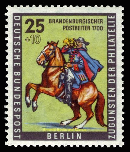 Poštovní známka Západní Berlín 1956 Poštovní doruèovatel, den známek Mi# 158