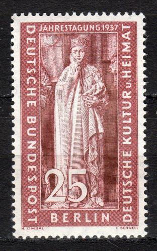 Poštovní známka Západní Berlín 1957 Uta von Naumburg Mi# 173