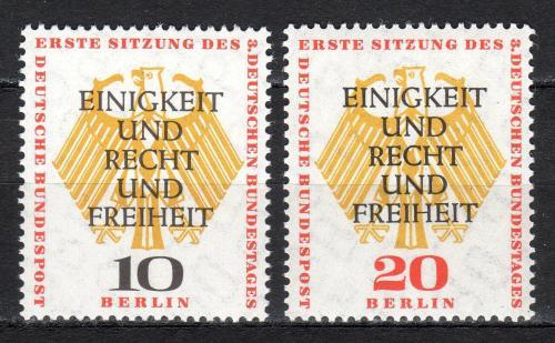 Poštovní známky Západní Berlín 1957 Státní znak pøetisk Mi# 174-75 Kat 6€