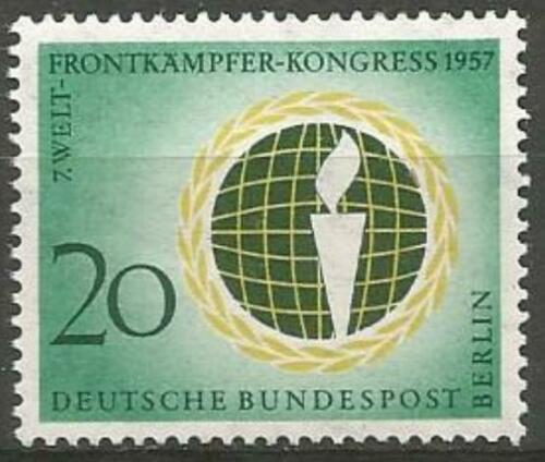 Poštovní známka Západní Berlín 1957 Kongres Obráncù hranic Mi# 177