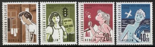 Poštovní známky Západní Berlín 1960 Prázdniny Mi# 193-96