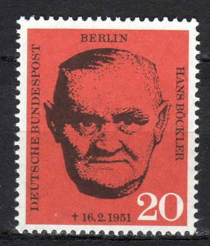 Poštovní známka Západní Berlín 1961 Hans Böckler Mi# 197
