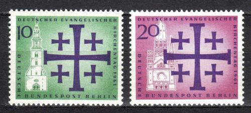 Poštovní známky Západní Berlín 1961 Den evangelíkù Mi# 215-16