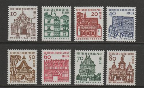 Poštovní známky Západní Berlín 1964-65 Architektura Mi# 242-49 Kat 9€
